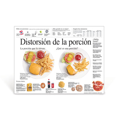Portion Distortion Spanish Poster