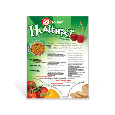 50 Ways: Eat Healthier Poster
