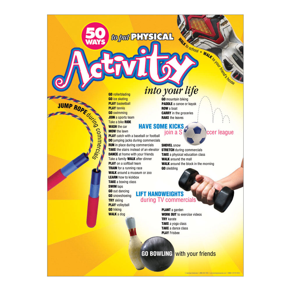 50 Ways: Physical Activity Poster