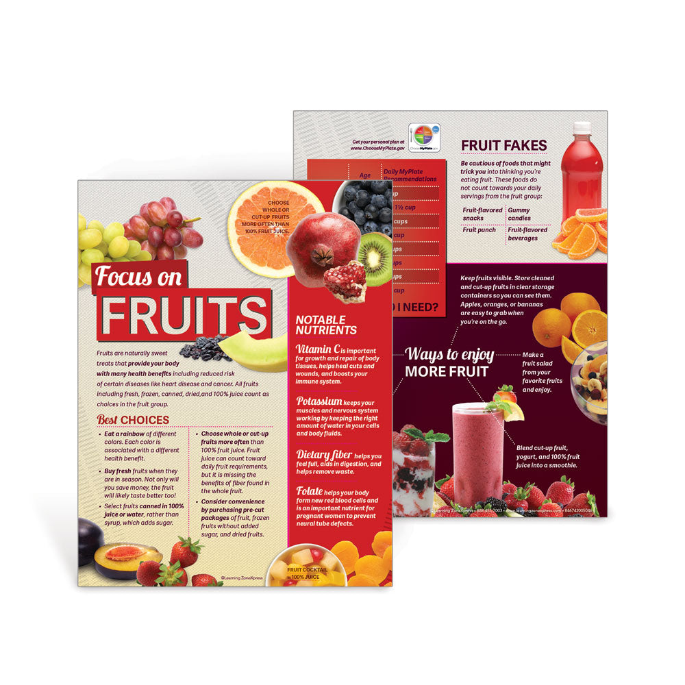 MyPlate Fruits Handouts