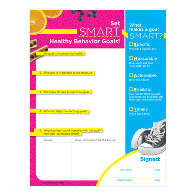 Set SMART Healthy Behavior Goals Handouts