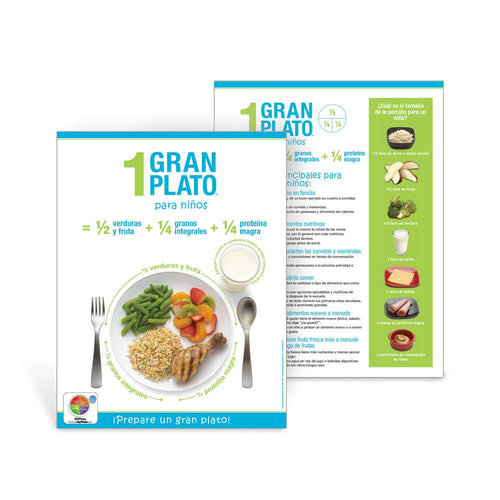 1 Great Plate® for Kids Spanish Handouts