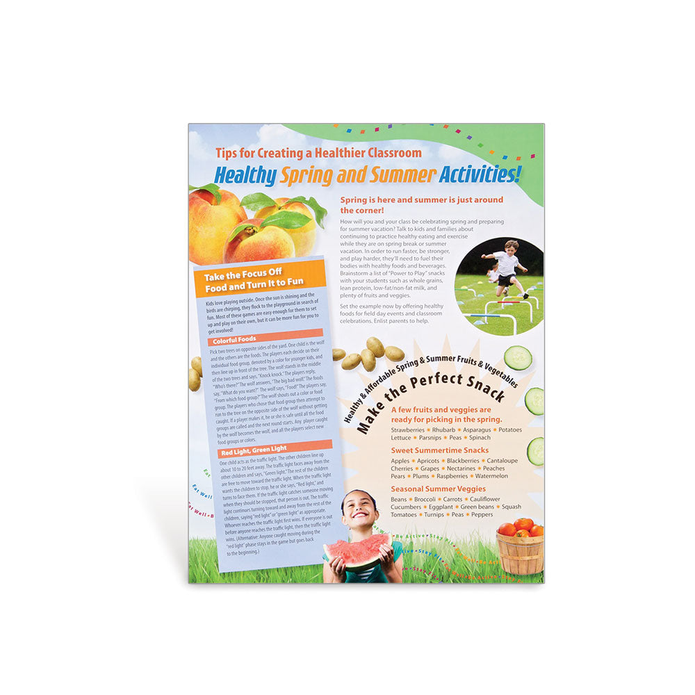 PE-Nut Healthy Spring and Summer Party Tips Handouts