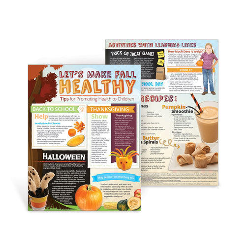 Let's Make Fall Healthy Newsletter Handouts