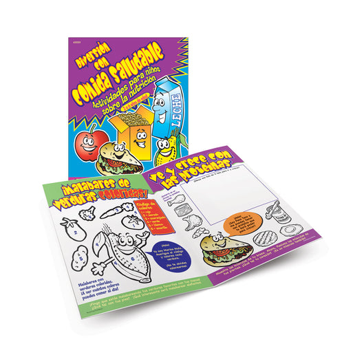 Good Foods Activity Book (Ages 2-6) Spanish