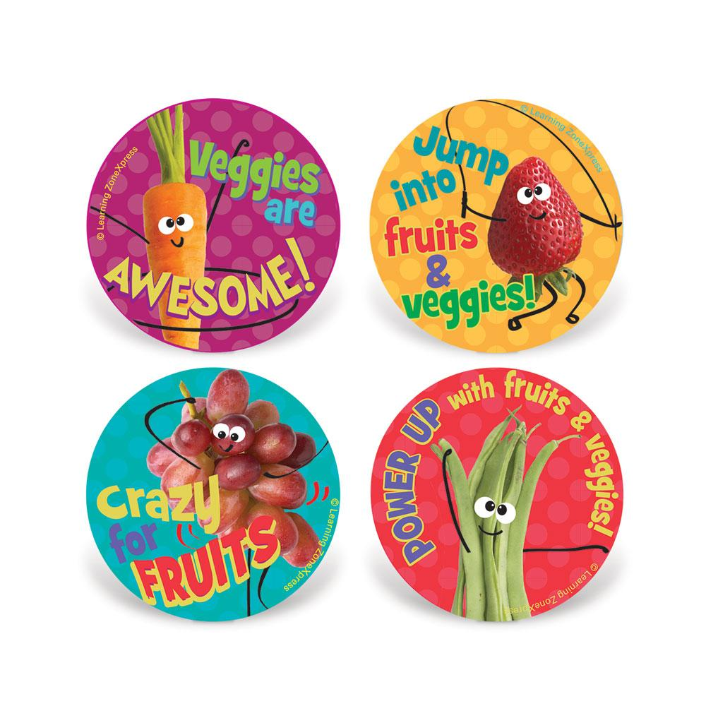 Kids MyPlate Fruit & Veggie Stickers