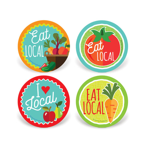Eat Local Stickers