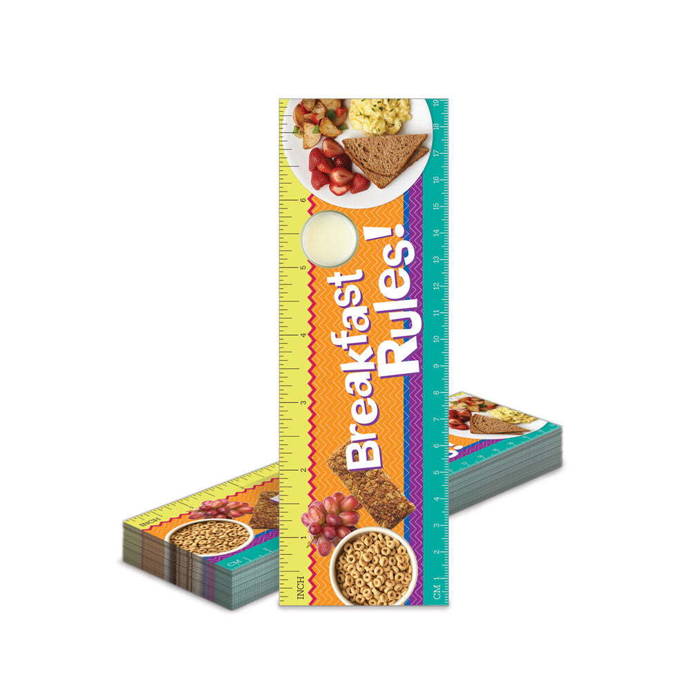 Breakfast Bookmark Rulers