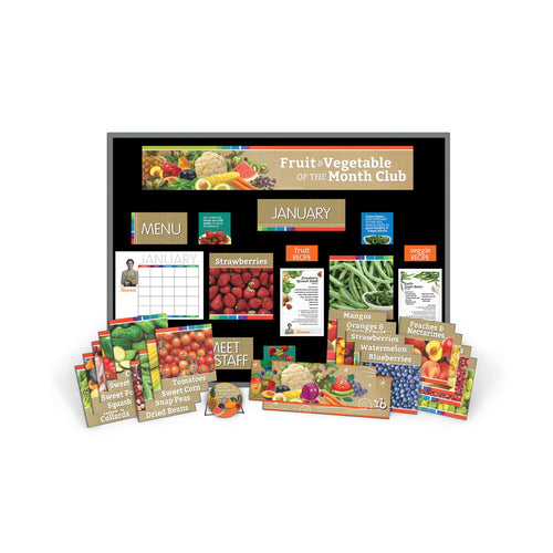 Fruit and Vegetable of the Month Super Bulletin Board Kit