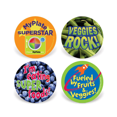 MyPlate Healthy Eating Stickers