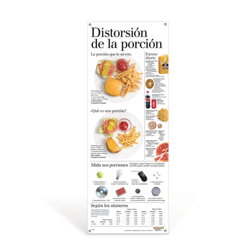 Portion Distortion Spanish Vinyl Banner