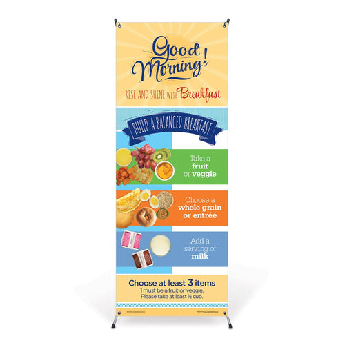 Breakfast Vinyl Banner with Stand