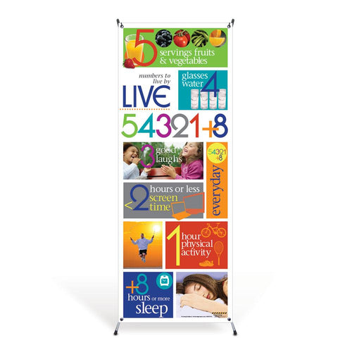 Live 54321+8® Vinyl Banner and Stand
