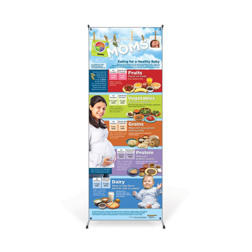 MyPlate for Expecting Moms Vinyl Banner with Stand