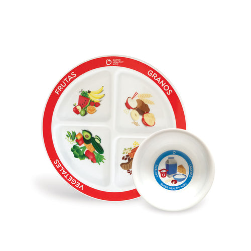 MyPlate 2 Piece Kids Plate Spanish