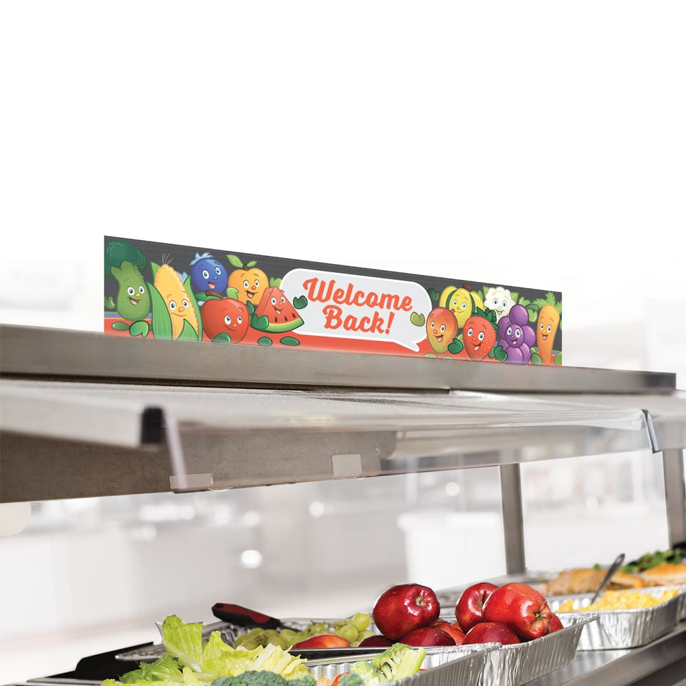 Garden Heroes® Welcome Back Cafeteria Serving Counter Sign