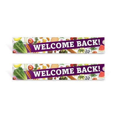 Cafeteria Welcome Back Sign Set