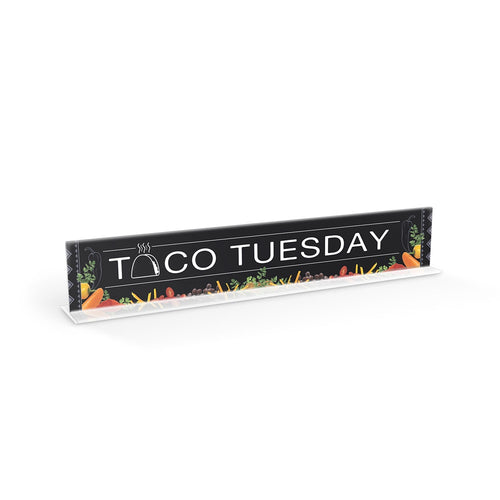 Taco Tuesday Cafeteria Serving Counter Sign