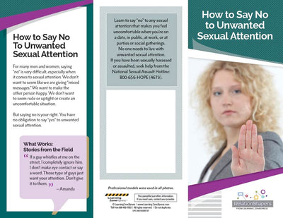 How to Say No to Unwanted Sexual Attention Tri-Fold Brochures