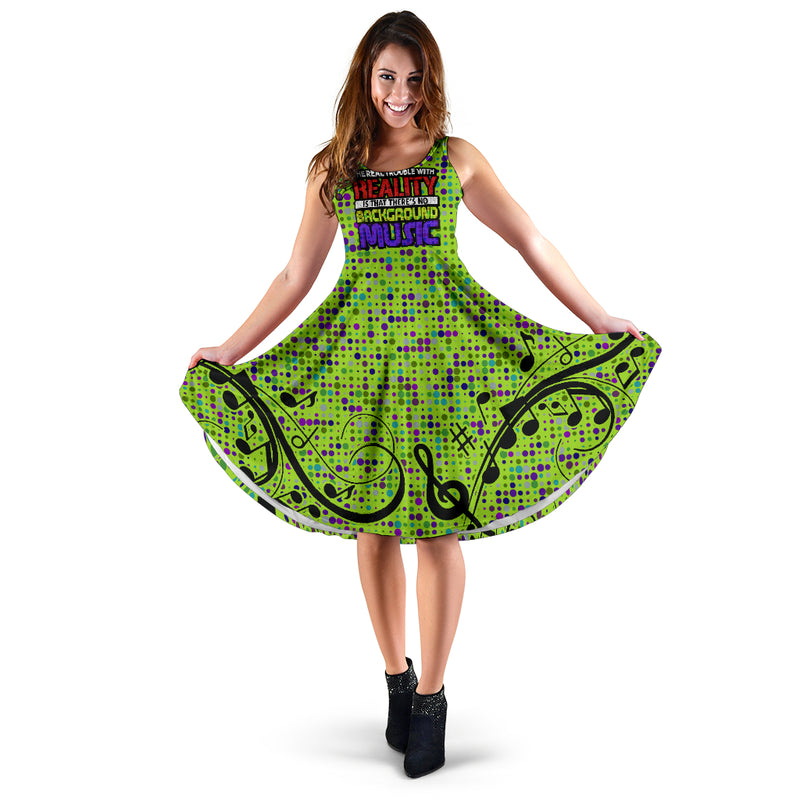 Background Music Midi Dress - Taryn's Cottage