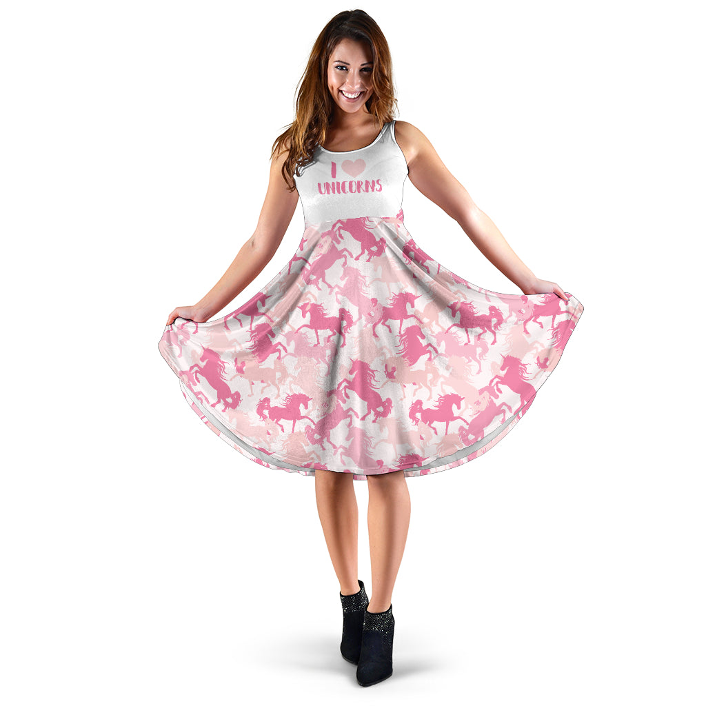 I Love Unicorns Midi Dress - Taryn's Cottage