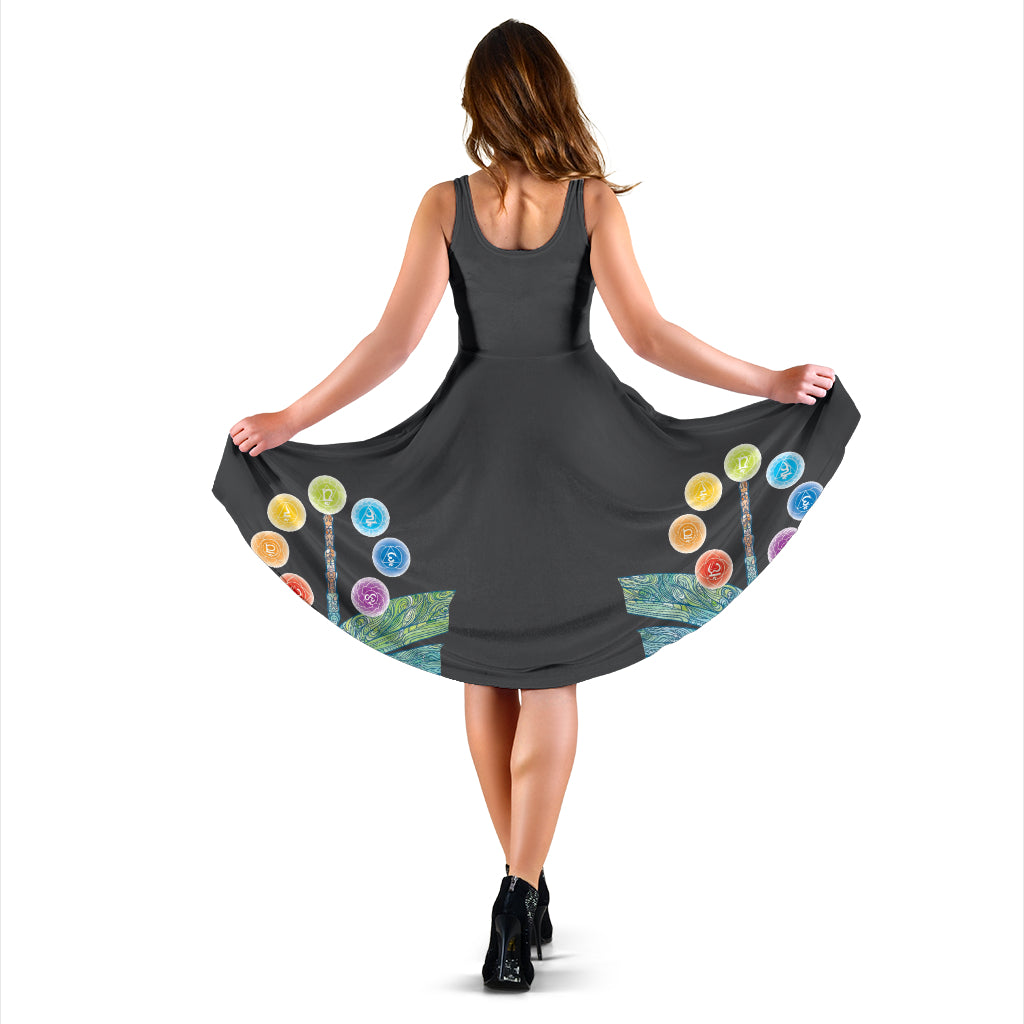 Chakra And Dragonfly Midi Dress - Taryn's Cottage