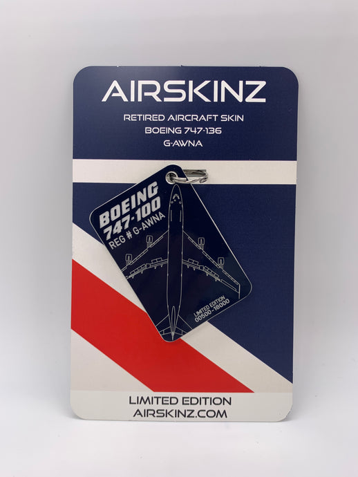 **PRE ORDER FOR THIRD BATCH SHIPPING EARLY FEB** Boeing 747-100 Airskinz British Airways G-AWNA
