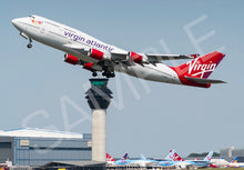 Load image into Gallery viewer, Virgin Atlantic Boeing 747-400 Prints