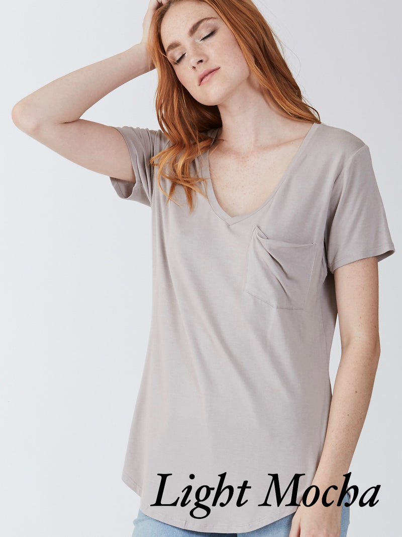 Soft V-Neck Pocket Tee
