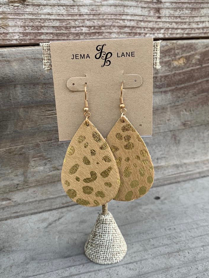 Animal Print Leather Earring