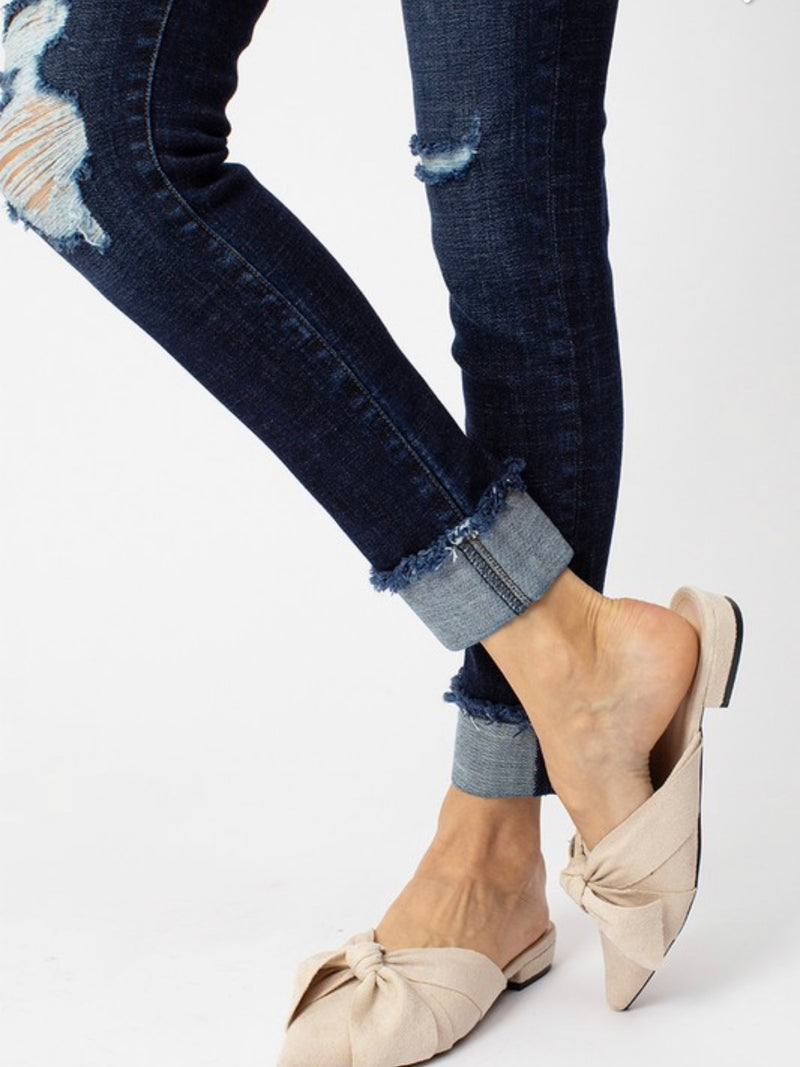 Dark Distressed KanCan Jean