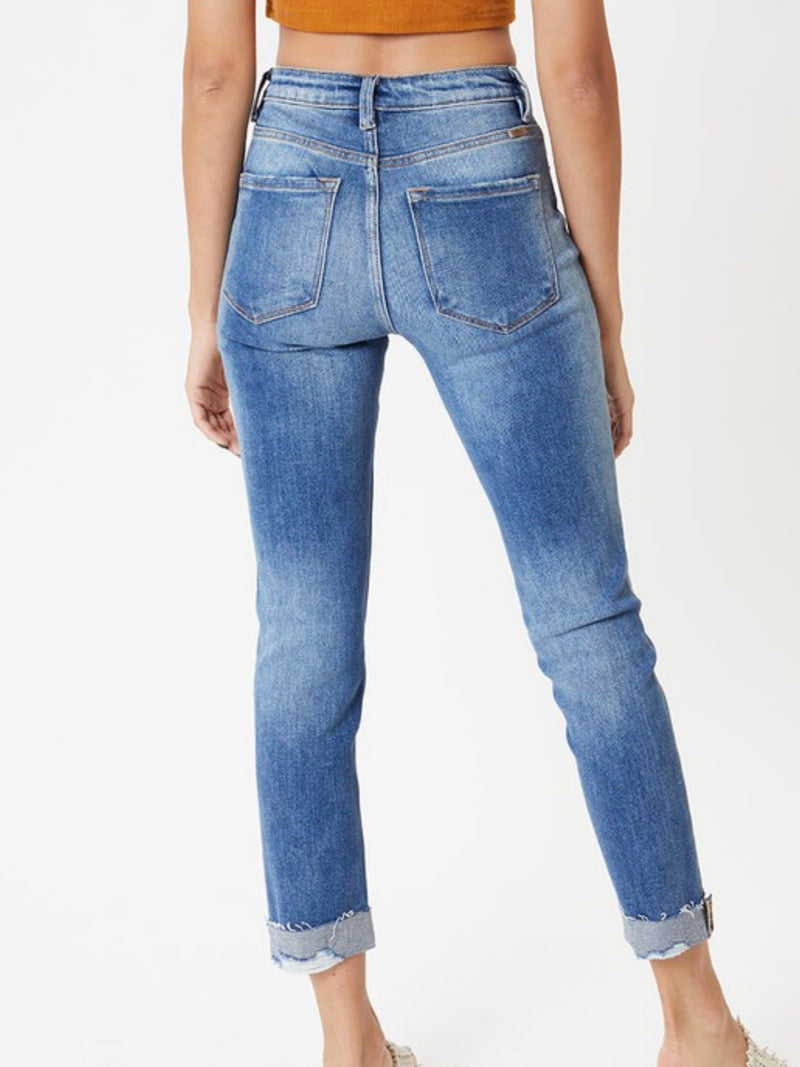 Lightly Distressed Jean Crop