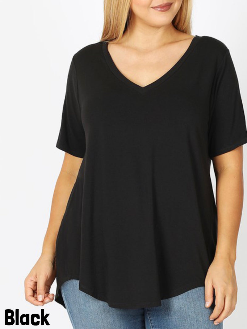Basic V-NeckCurvy Top