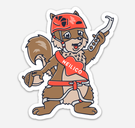 Munchies The Squirrel Sticker