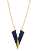 "Art Nouveau ""V"" Necklace in Navy"