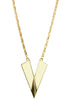 "Art Nouveau ""V"" Necklace in Winter White"