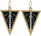 Deco Earrings in Black