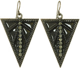 Deco Earrings in Gun Metal