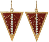 Deco Earrings in Burgundy