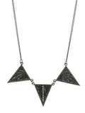 Deco Necklace in Gun Metal