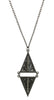 Long Diamond Necklace in Gun Metal