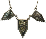 Wing Deco Necklace in Gun Metal