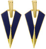 "Classy Art Nouveau ""V"" Earrings in Black"
