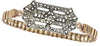 Eva Vintage Deco Watchband Bracelet in Crystal/ Silver