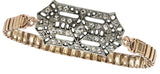 Eva Vintage Deco Watchband Bracelet in Crystal