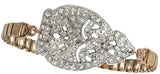 Genevieve Vintage Deco Watchband Bracelet in Crystal