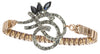 Elodie Vintage Deco Watchband Bracelet in Crystal