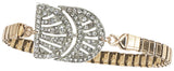 Charly Vintage Deco Watchband Bracelet in Crystal