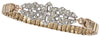 Rose Vintage Deco Watchband Bracelet in Crystal