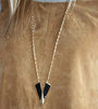 "Art Nouveau ""V"" Necklace in Black"